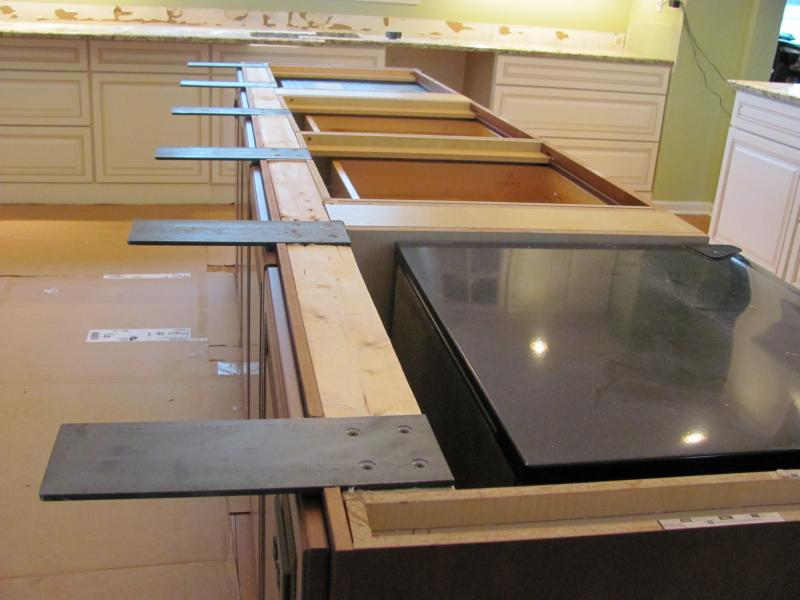Counter supports home How to support granite overhang