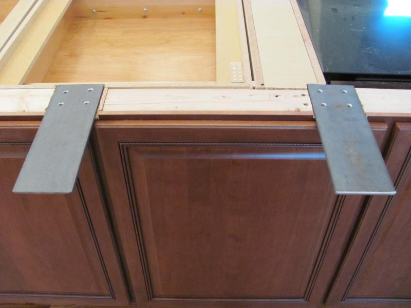 Counter supports services How to support granite overhang